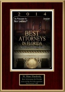 Marc Hardesty Best Attorneys in Florida 2014 logo